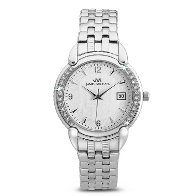 Polished Crystal Bezel Watch - For Her