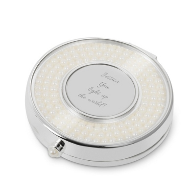 Personalized Pearl Compact Mirror - $20.00