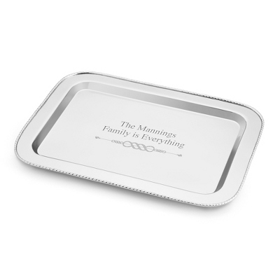 Rope Collection Large Stainless Steel Serving Tray