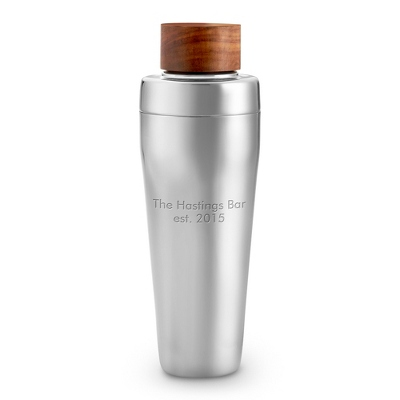 Wood Fusion Collection Personalized Cocktail Shaker - UPC 825008066328