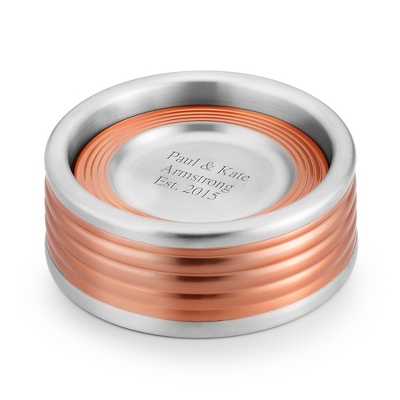 Metal and Rose Gold Collection Coasters