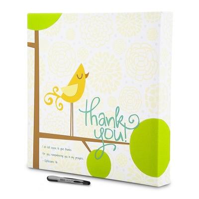 Thank You Bird 18x18 Canvas