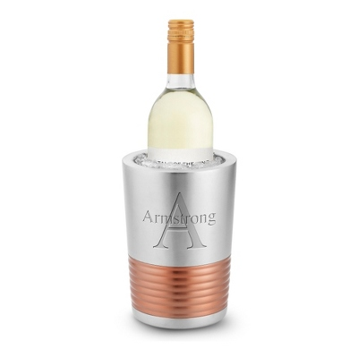 Metal & Rose Gold Wine Chiller