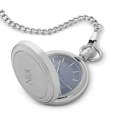 Blue Face Classic Pocket Watch