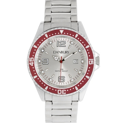 Engraved Red Diver Wrist Watch