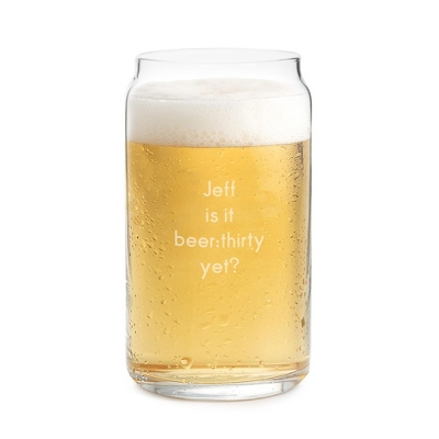 Personalized Beer Can Glass - UPC 825008071872