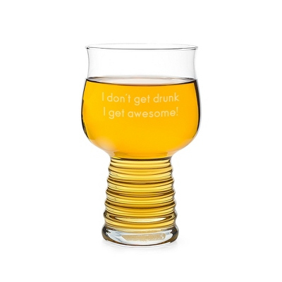 Personalized Hard Cider Glass