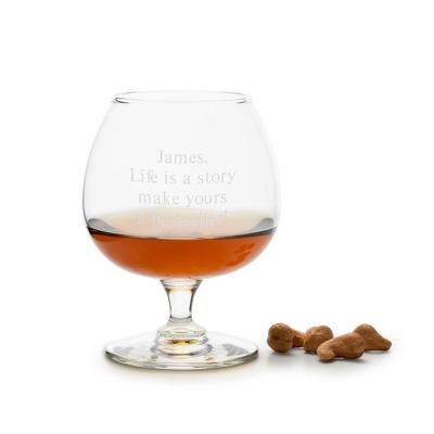 Personalized 12 oz. Brandy Glass - $10.00