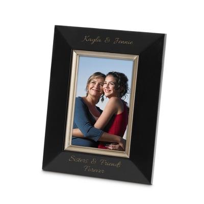 Bevel Design Black Wood 4x6 Picture Frame
