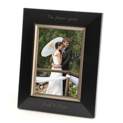 Bevel Design Black Wood 5x7 Picture Frame