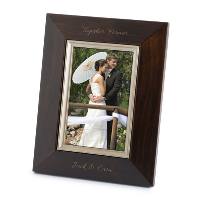 Bevel Design Brown Wood 4x6 Picture Frame