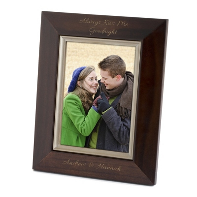 Bevel Design Brown Wood 5x7 Picture Frame