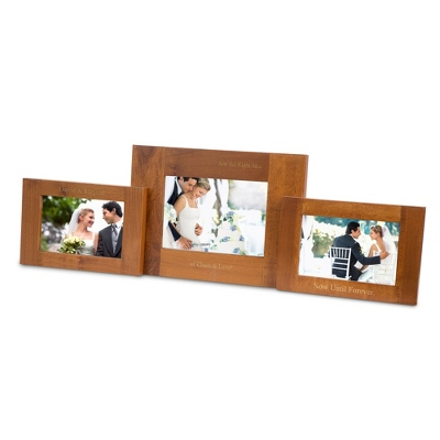 Walnut Pivot Double Spectrum Picture Frame - $50.00
