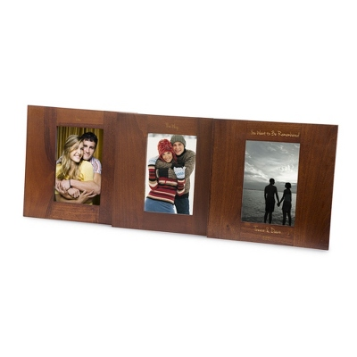 Walnut Pivot Triple Spectrum Picture Frame - UPC 825008073418
