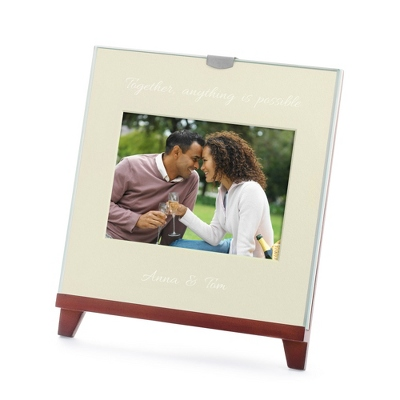 Easel Walnut 4x6 Photo Frame