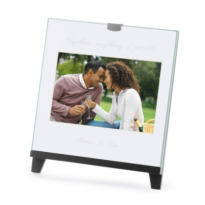 Black Glass Family Photo Frames