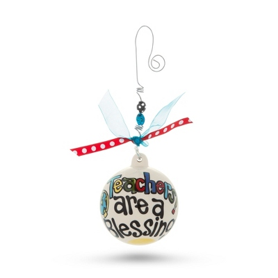 Hand Painted Teachers Are a Blessing Ornament - All Christmas Ornaments