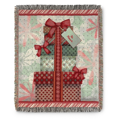 Holiday Presents Throw - Holiday Decor