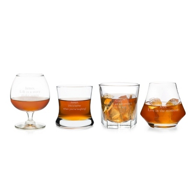 Whiskey and Brandy Lover Set - Bar Glasses