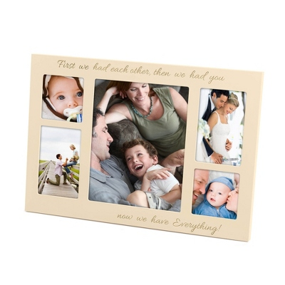 Large Cream Wood Baby Frame - UPC 656200107270