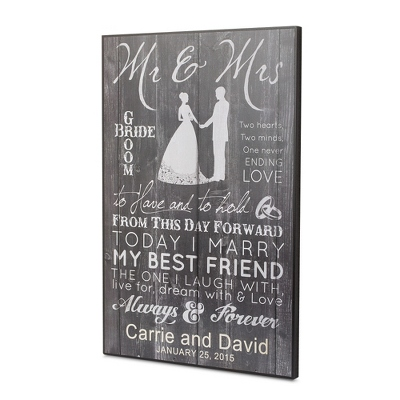 Personalized New Mr. & Mrs. Wall Art