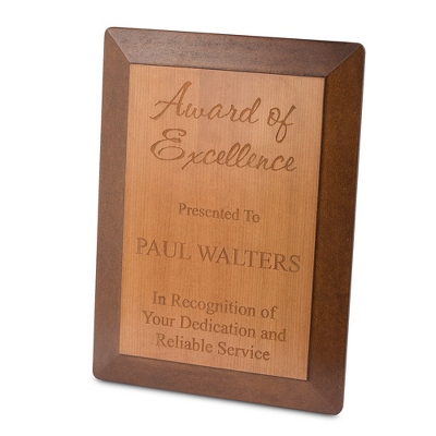 Engravable Wood Recognition Plaque - $40.00