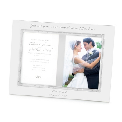 Lenox Devotion Double 5x7 Wedding Photo Frame