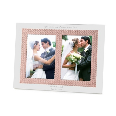Aegean Rose Double 5x7 Wedding Invitation Frame