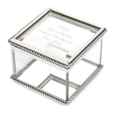 Large Antique Mirrored Keepsake Box