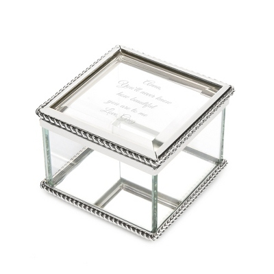 Small Antique Mirrored Keepsake Box - UPC 825008075016