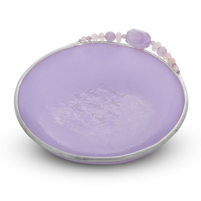 Medium Handcrafted Lilac Glass Vanity Dish