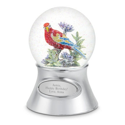 Personalized Musical Parrot Snow Globe