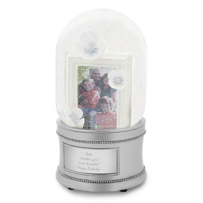 Flower Dome Snow Globe - $34.99