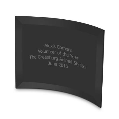 5x7 Black Crescent Award