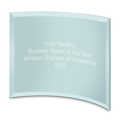 8x10 Blue Crescent Award