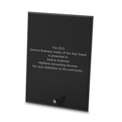 Black Rectangle Award with Removable Peg