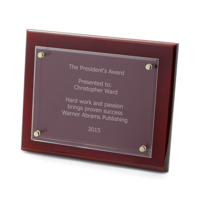 8x10 Engraved Rosewood Cantebury Plaque