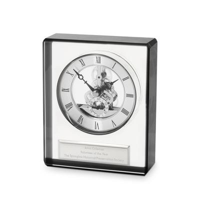 Black Edge Crystal Clock
