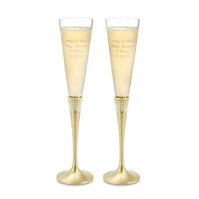 Gold Eternity Toasting Flutes
