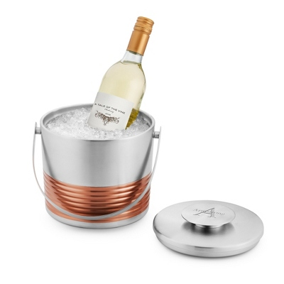 Metal and Rose Gold Collection Ice Bucket