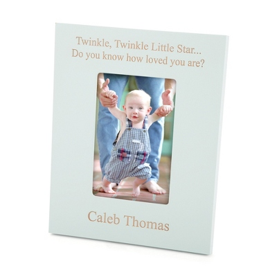Baby Blue Wood 4x6 Photo Frame - Portrait - For the Home