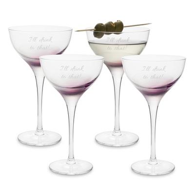 Qualia Topaz Martini Glass Set - UPC 825008083790