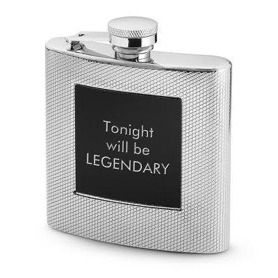 Textured Black Matte Flask