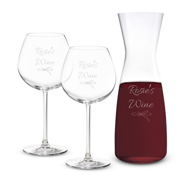 Long Stemmed Classic Bar Decanter Wine Set