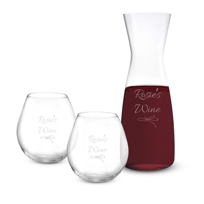 Stemless Classic Bar Decanter Wine Set