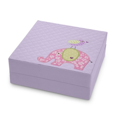 Purple Elephant Baby Keepsake Box
