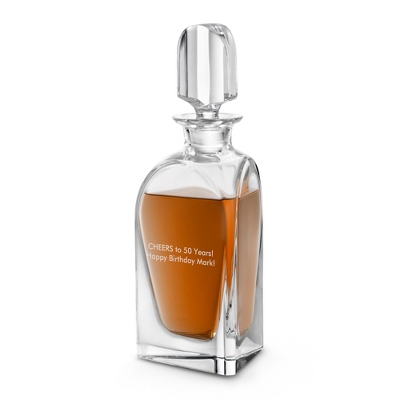 Handmade Dune Crystal Whiskey Decanter - $215.00