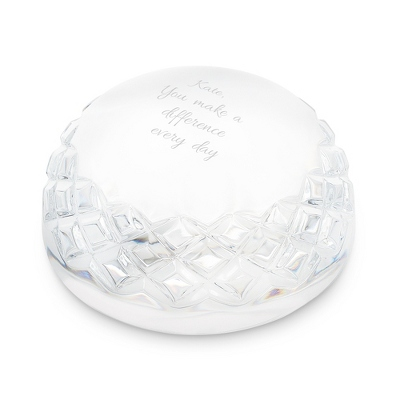 Waterford Crystal Dome Paperweight