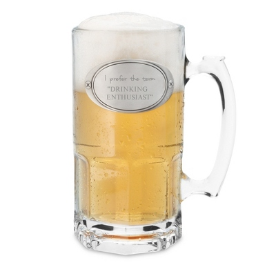 34 oz. Moby Beer Mug with Valentine's Day Message