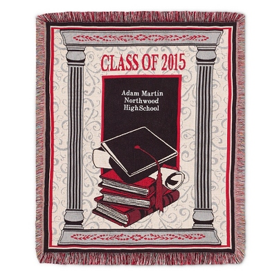 2015 Red Graduation Throw